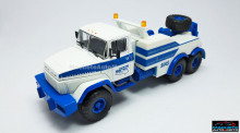 MAGAZINE MODELS 1:43 - KRAZ 6322 BRO-200, WHITE/BLUE