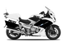 MAISTO 1:18 - YAMAHA FJR 1300A GENERIC POLICE AUTHORITY, BLACK/WHITE