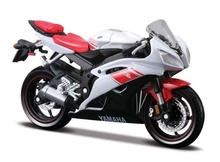 MAISTO 1:18 - YAMAHA YZF-R6, WHITE/RED