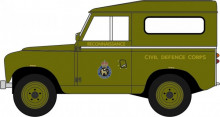 OXFORD 1:76 - LAND ROVER SERIES II SWB HARD BACK CICIL DEFENCE, GREEN