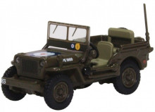 OXFORD 1:76 - WILLYS MB RAF 83 GRP.2ND TACTIVAL AF 1944/45, DARK BROWN