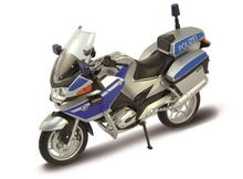 WELLY 1:18 - BMW R1200 RT 'POLIZEI', SILVER/BLUE