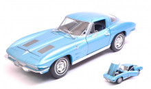 WELLY 1:24 - CHEVROLET CORVETTE C2 METALLIC BLUE