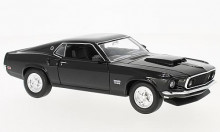 WELLY 1:24 - FORD MUSTANG BOSS 429 1969, BLACK