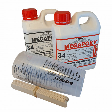 Rasina pentru incapsulari electrice Megapoxy 34, set 2kg