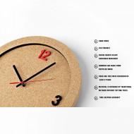 Ceas de perete din pluta ECO-CORK 30 cm