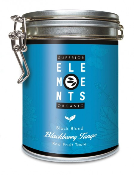 BLACKBERRY TANGO - TEA ORGANIC BLACK BLEND - HANDMADE Red Fruit Taste cutie metalica