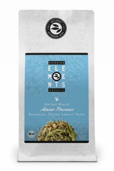 AMOUR PROVENCE -TEA ORGANIC HERBAL BLEND HANDMADE - Rosemary Thyme Lemon TASTE