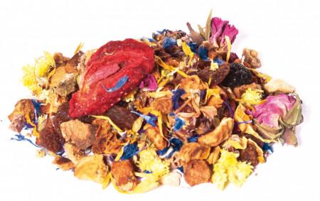 FUNKY FLOWER ceai Bio amestec de fructe si plante cu gust de RODIE SI PORTOCALA ROSIE