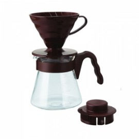HARIO V60 KIT COFFEE BREWER PLASTIC TIP 02
