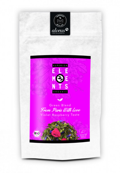 FROM PARIS WITH LOVE ORGANIC GREEN BLEND HANDMADE Violet Raspberry Taste