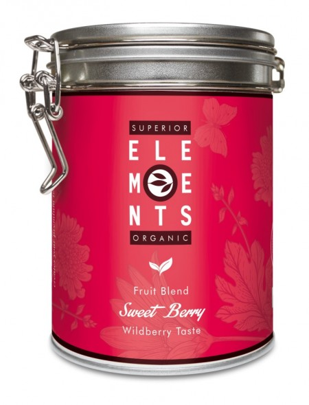 SWEET BERRY SUPERIOR ELEMENTS ORGANIC - TEA FRUIT BLEND - HANDMADE Wildberry Taste cutie metalica