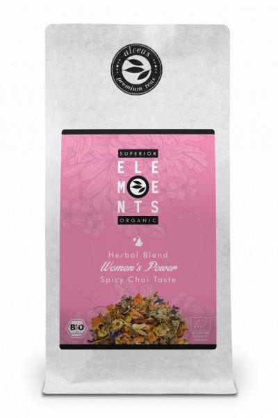 WOMEN'S POWER SUPERIOR ELEMENTS TEA ORGANIC HERBAL BLEND - HANDMADE -Spicy Chai Taste, 100g plic