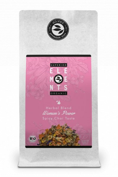 WOMEN'S POWER- TEA ORGANIC HERBAL BLEND - HANDMADE -Spicy Chai Taste, 100g plic