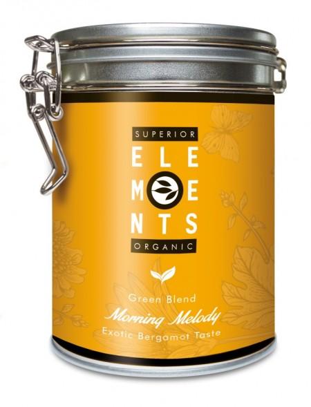 MORNING MELODY SUPERIOR ELEMENTS ORGANIC TEA GREEN BLEND HANDMADE- Exotic Bergamot TASTE cutie metalica