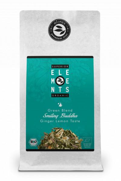 SMILING BUDDHA ORGANIC amestec de ceai verde, fructe si plante cu gust de ghimbir si lamaie, plic 100g
