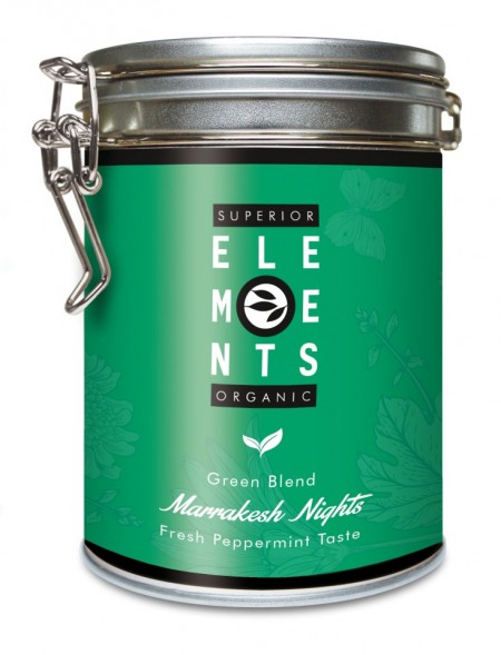 MARAKESH NIGHTS - TEA ORGANIC GREEN BLEND - HANDMADE Fresh Peppermint Taste