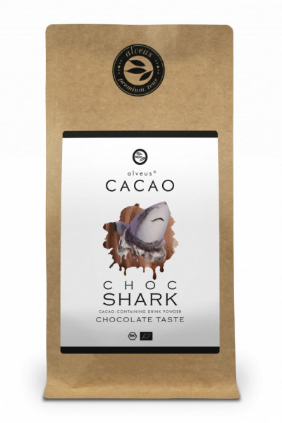 CHOCO SHARK CACAO ALVEUS - BIO CACAO PUDRA --CONTAINING DRINK POWDER CHOCOLATE TASTE