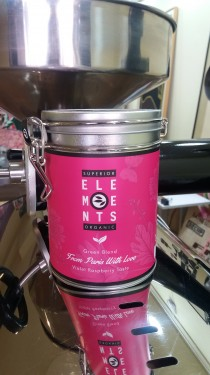 FROM PARIS WITH LOVE - TEA ORGANIC GREEN BLEND HANDMADE - Violet Raspberry Taste cutie metalica