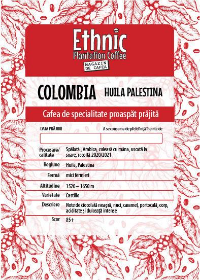 COLOMBIA HUILA PALESTINA ARABICA RECOLTA 2020/2021 cafea de specialitate proaspat prajita