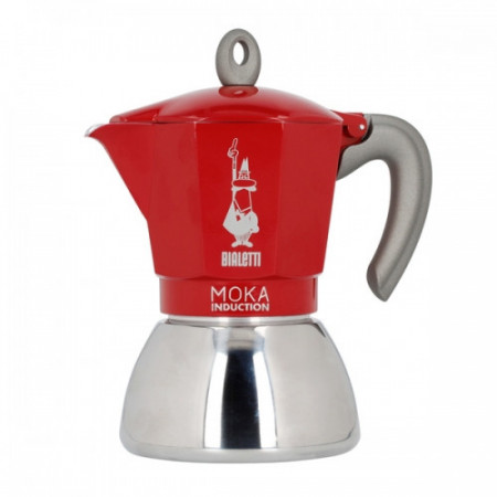 MOKA POT BIALETTI INDUCTION ROSU 6TZ