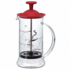 HARIO French press Coffee & Tea 240ml SLIM RED