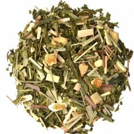 SMILING BUDDHA amestec de ceai verde, fructe si plante Bio cu gust de ghimbir si lamaie