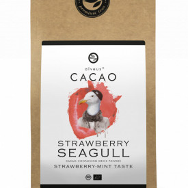 STRAWBERRY SEAGULL CACAO ALVEUS - BIO --CONTAINING DRINK POWDER STRAWBERRY MINT TASTE