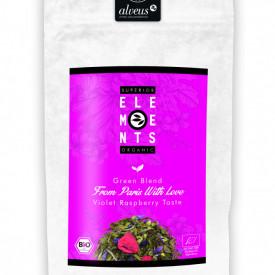 FROM PARIS WITH LOVE SUPERIOR ELEMENTS TEA ORGANIC GREEN BLEND ALVEUS HANDMADE Violet Raspberry Taste 100g plic