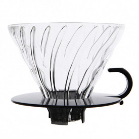 HARIO V60 COFFEE DRIPPER TIP 02 CLEAR GLASS