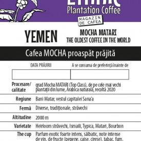 Cafea YEMEN MOCHA MATARI Arabica 100g, recolta 2020