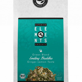 SMILING BUDDHA TEA ORGANIC GREEN BLEND GINGER LEMON TASTE, PLIC 100G