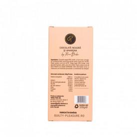 Tabletă Artizanala de Ciocolată Neagră cu Cirese Amare 100g