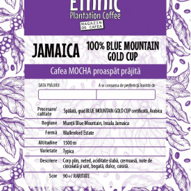 Cafea RARITATE 100% JAMAICA BLUE MOUNTAIN GOLD CUP Arabica 100g, recolta 2020