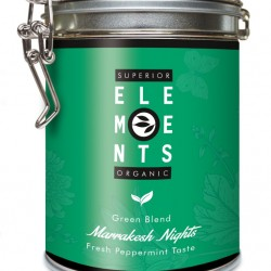 MARAKESH NIGHTS - TEA ORGANIC GREEN BLEND - HANDMADE Fresh Peppermint Taste