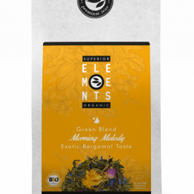 MORNING MELODY SUPERIOR ELEMENTS ORGANIC TEA GREEN BLEND EXOTIC BERGAMOTE TASTE, PLIC 100G