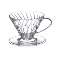 HARIO V60 COFFEE DRIPPER TIP 01 sau TIP 02 CLEAR