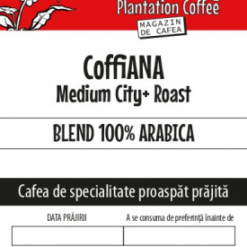 "CAFEA BOABE proaspat prajita ""CoffiANA"" 100% Arabica blend"