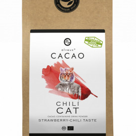 CHILI CAT CACAO ALVEUS - BIO --CONTAINING DRINK POWDER STRAWBERRY CHILI TASTE