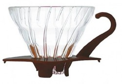 HARIO COFFEE DRIPPER GLASS TIP 02 BROWN