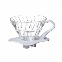 HARIO COFFEE DRIPPER GLASS TIP 02 WHITE