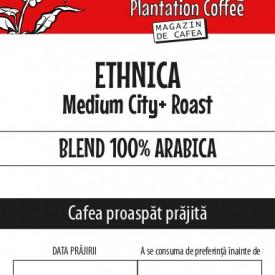 "CAFEA BOABE proaspat prajita ""ETHNICA"" 100% Arabica belnd"