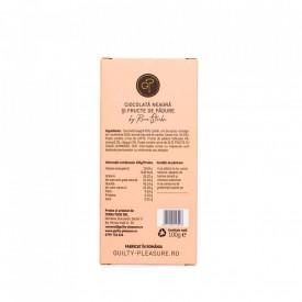 Tabletă Artizanala de Ciocolată Neagră cu Fructe de Padure 100g