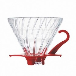 HARIO COFFEE DRIPPER GLASS TIP 02 RED