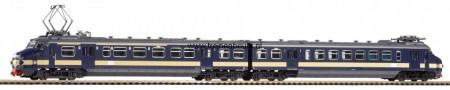 PIKO 57574 Hondekop BENELUX blauw gele streep (Treinstel NMBS) Nieuw H0 NIEUW uitloop