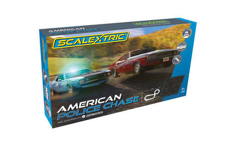 SCALEXTRIC 1405 AMERICAN POLICE CHASE (7/19) *
