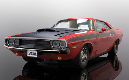 SCALEXTRIC 4065 DODGE CHALLENGER T/A RED AND BLACK (10/19) *
