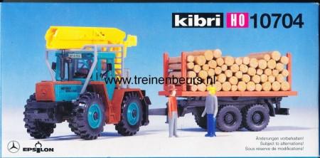 KIBRI 10704 U Mercedes met aanhangwagen met hout