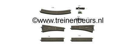 RO 51250 ROCO Geoline met bedding H0 Railset voor digitale startset NIEUW
