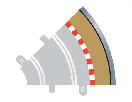 SCALEXTRIC 8240 RADIUS 1 CURVE OUTER BORDERS 45° X 4